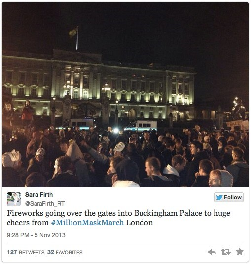 Buckingham Palace fireworks on Anonymous Million M