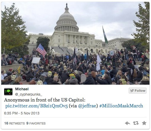 US Capital Anonymous Million Mask March
