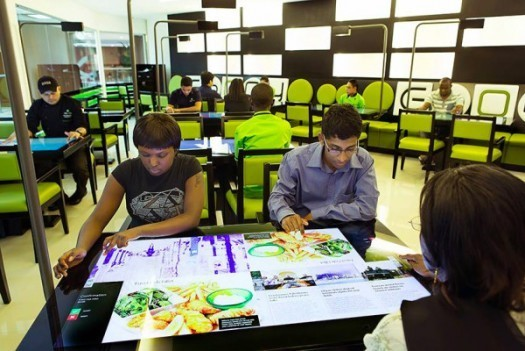 Diners at the Ebony Interactive Restaurant in Dubai