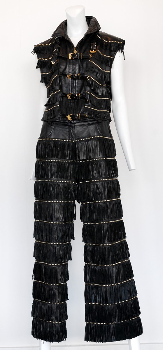 Gianni Versace Fringe Jacket and Pants from Resurr