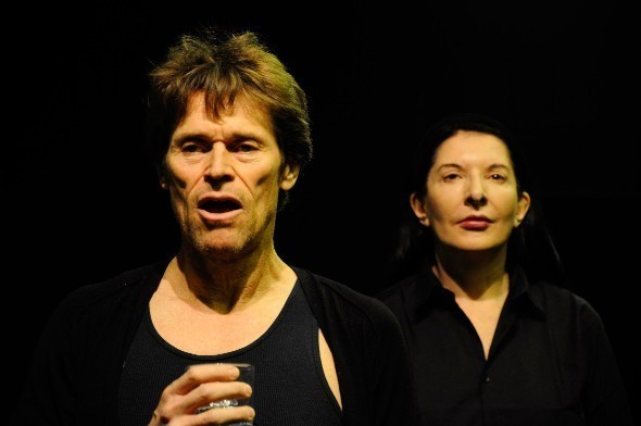 Abramovic with Willem Defoe