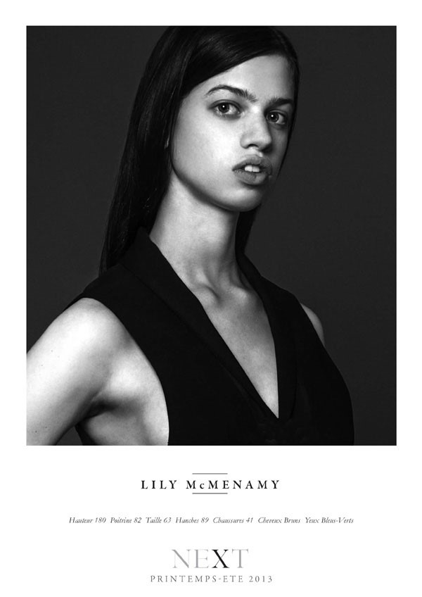 Lily McMenamy SS13 Showcard (NEXT)