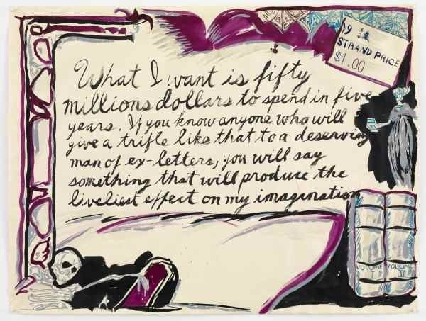 Pettibon_No-Title-What-I-want...-600x453