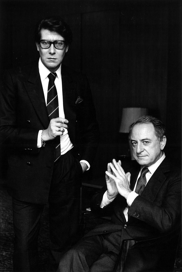 Yves Saint Laurent (L) and Pierre Bergé (R), 1983.