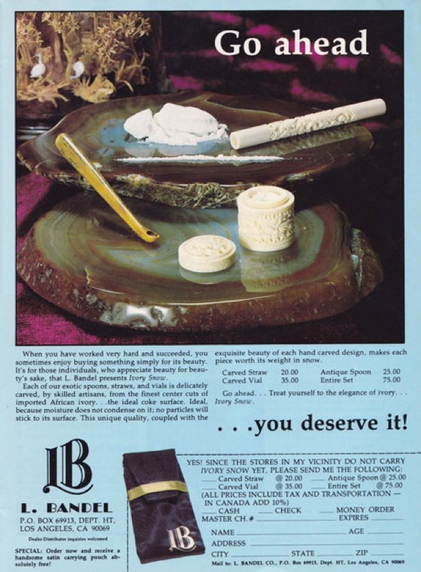 cocaine advert