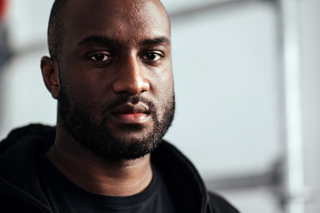 Virgil Abloh backstage at Off-White AW16