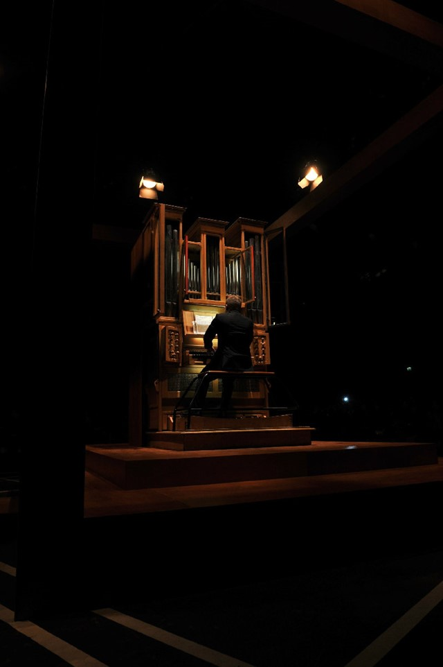 Givenchy's organ player.