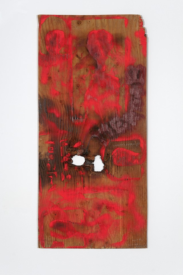 William S. Burroughs, Untitled, 1987, Paint and Gu