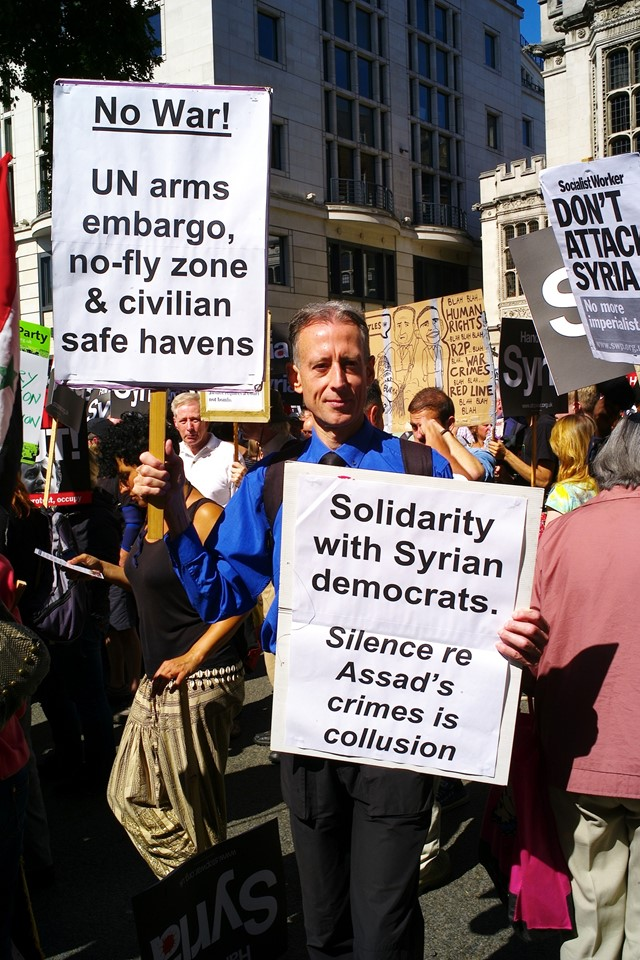 Syrian anti-war march