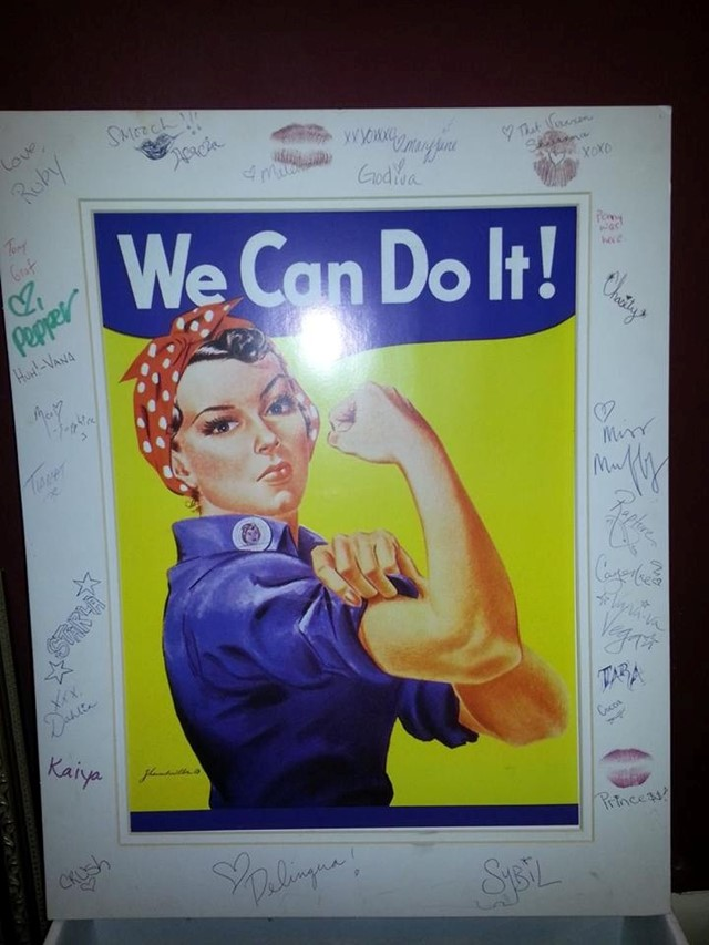 Rosie the Riveter at Lusty Lady