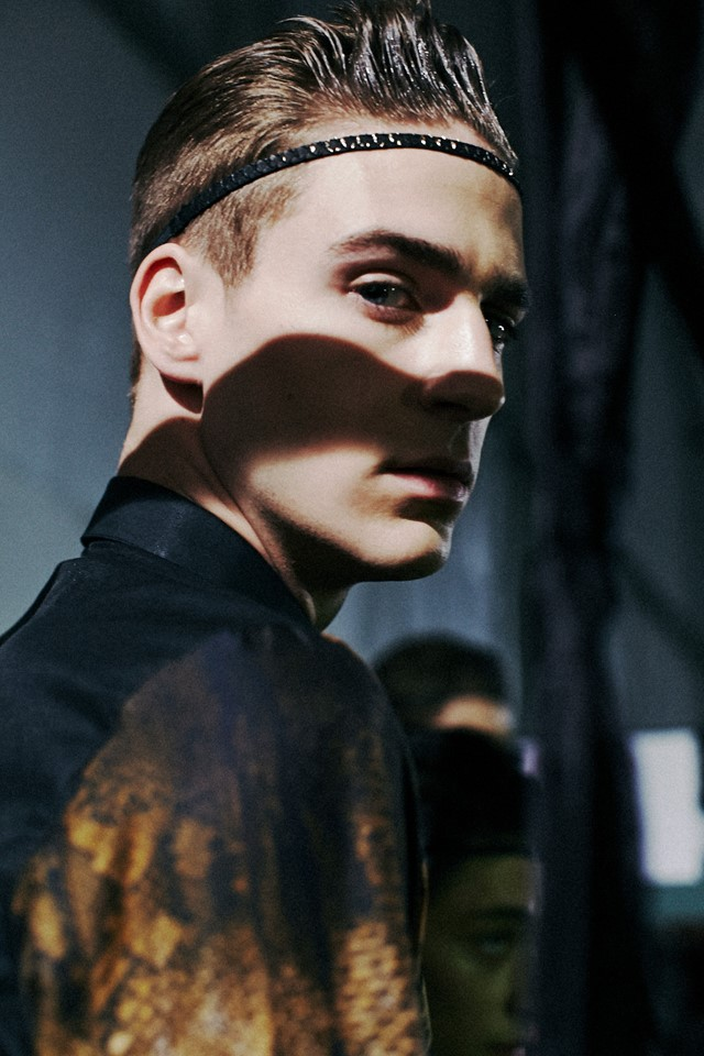 Backstage at Roberto Cavalli AW14