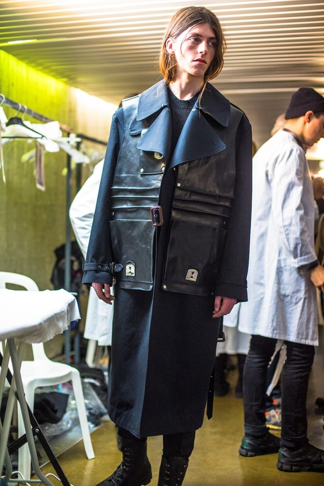 Backstage at Maison Martin Margiela AW14