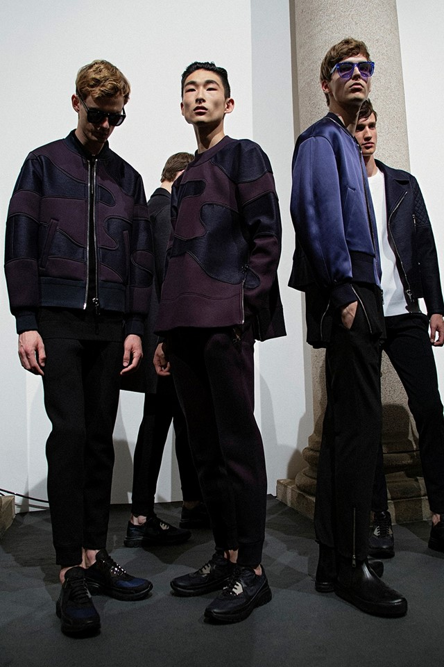 Neil Barrett SS15 Mens collections, Dazed backstage
