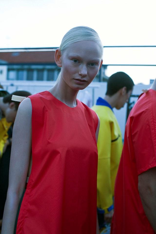 Wali Mohammed Barrech SS15, Dazed backstage