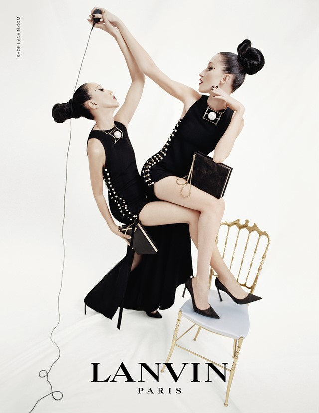 Anna Cleveland and Pat Cleveland for Lanvin SS15