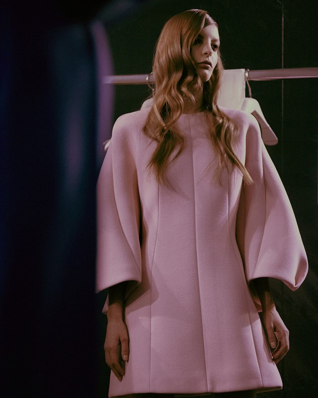 Dice Kayek Haute Couture SS15 Pink Mini Balloon Sleeve