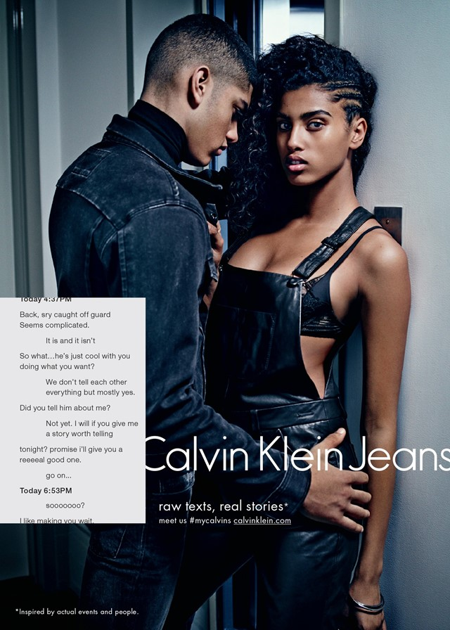 Calvin Klein Jeans AW15 campaign sexting