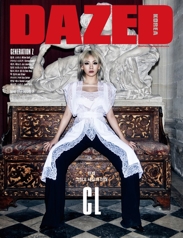 CL on the cover of Dazed Korea's 'Generation Z' issue