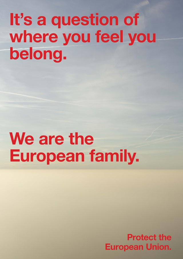 Campaign poster Protect the European Union, Jon van Bennekom