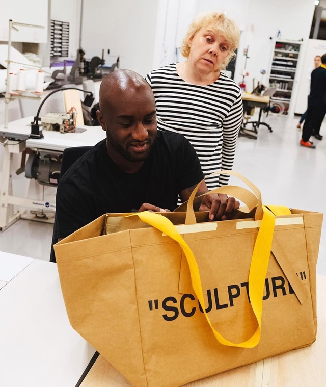 virgil abloh ikea blue bag off white copy