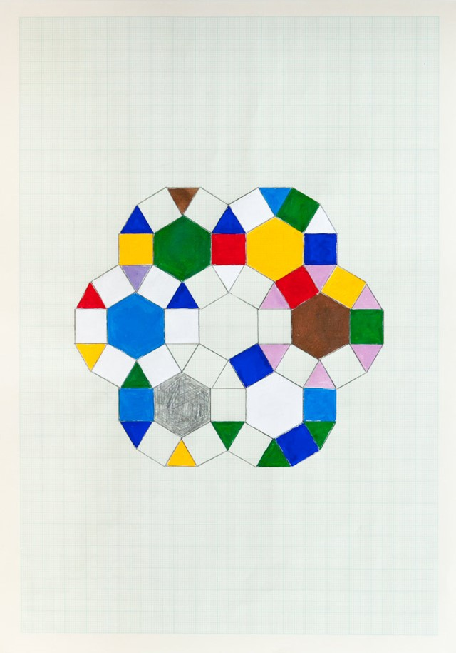 Untitled (Drawing 4), 2011, gouache and pencil on