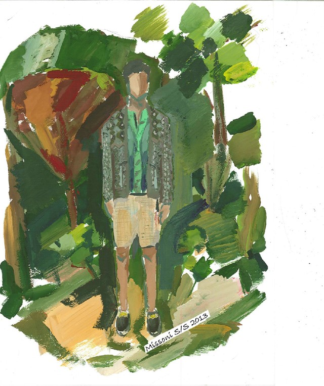 Missoni Menswear S/S13 design sketch courtesy of M