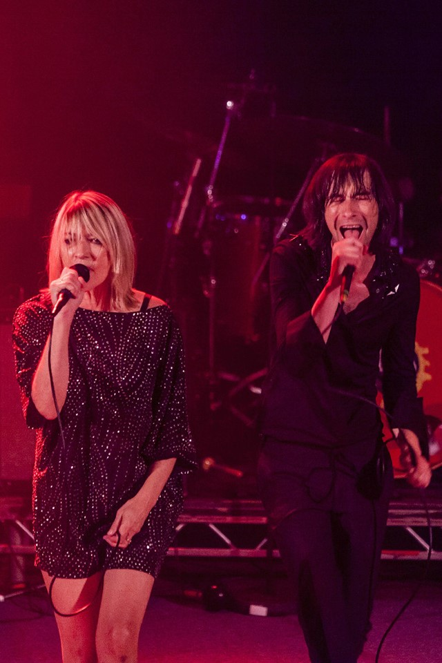 Kim Gordon and Bobby Gillespie