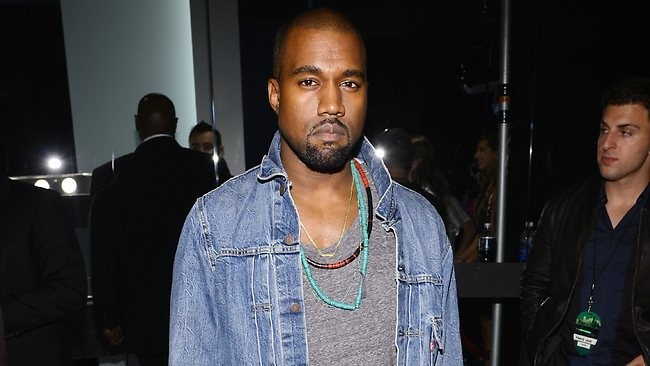 Kanye West backstage at Kazakh concert