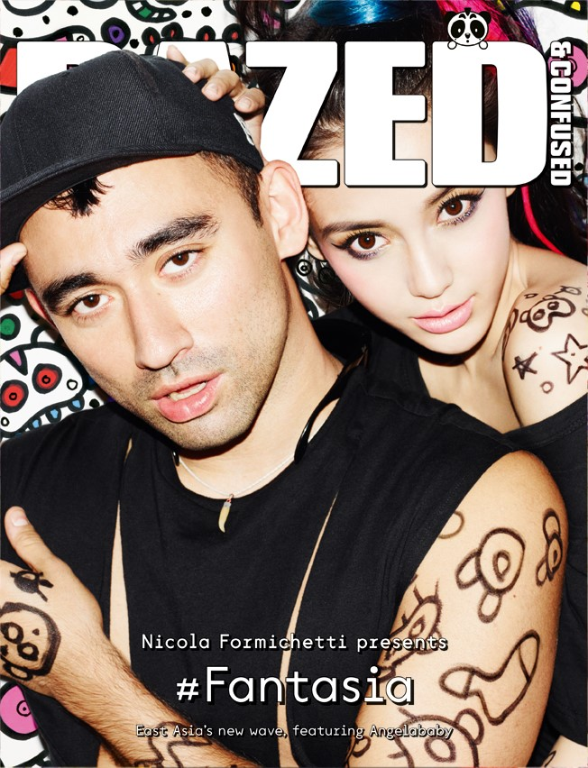 Angelababy and Nicola Formichetti on the cover o