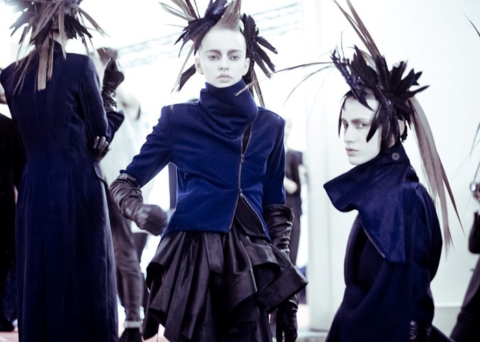 Ann Demeulemeester Womenswear AW12. Photography Mo