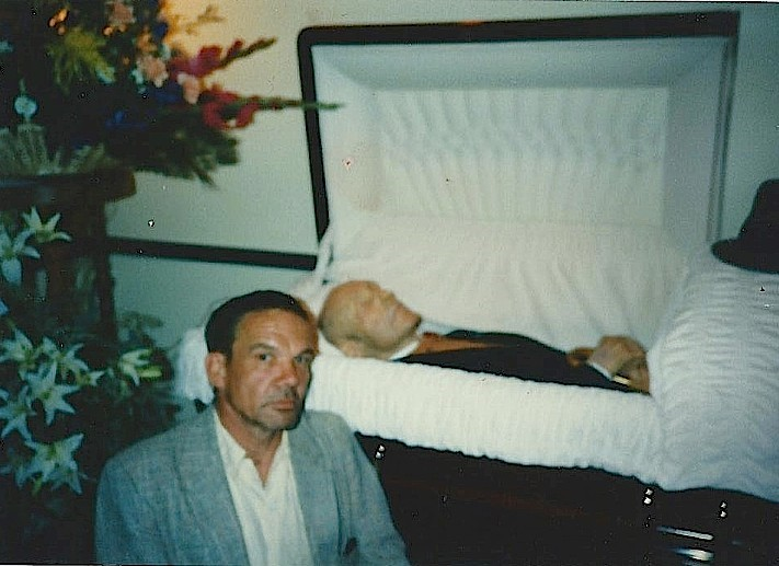 Wayne Propst at WB's funeral - self portrait