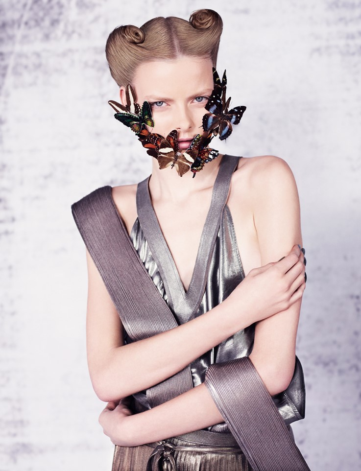 Body harness and skirt by Haider Ackermann; dress
