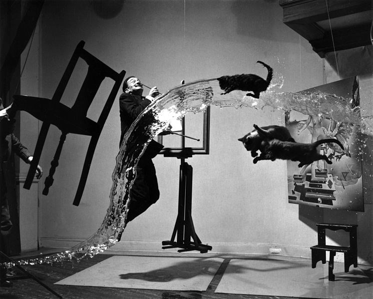 """Dali Atomicus"", photographed by Philippe Halsman"