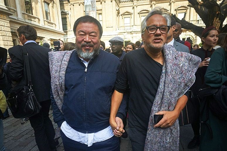 Ai Weiwei and Anish Kapoor walked through London 2015