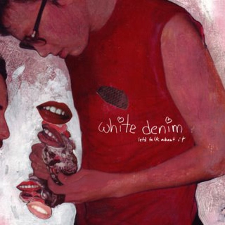 "The album cover for White Denim's ""Let's talk abou"