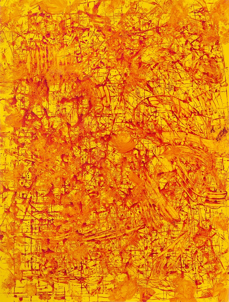 William S. Burroughs, Untitled, 1992, Acrylic on P