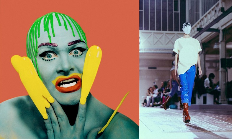 leigh bowery - dripping paint