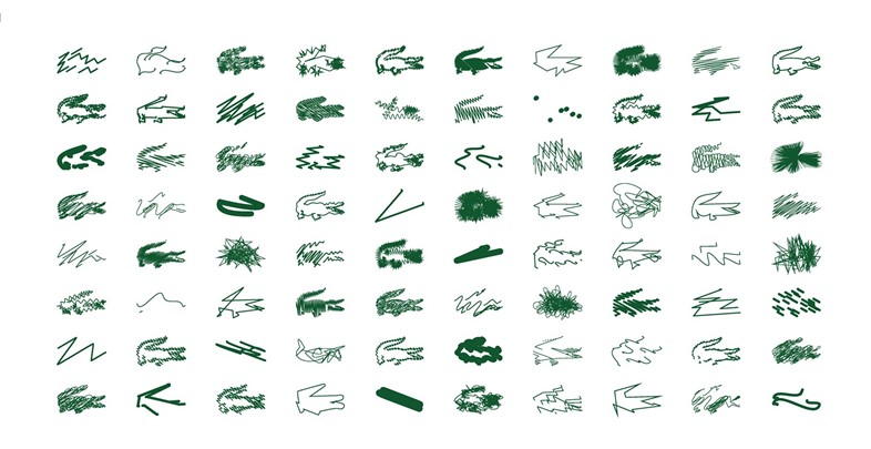 Lacoste x Peter Saville drawings