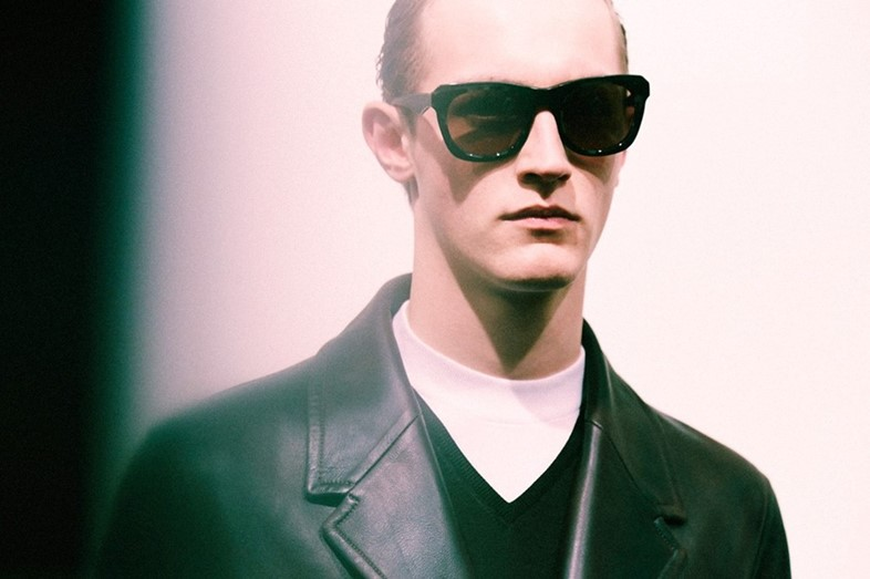 Backstage at Neil Barrett AW14