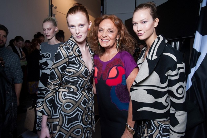 Backstage at Diane Von Furstenberg AW14
