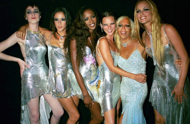 Donatella Versace in the '90s