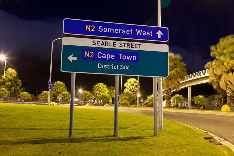 Zonnebloem is rename District on the offramp onto
