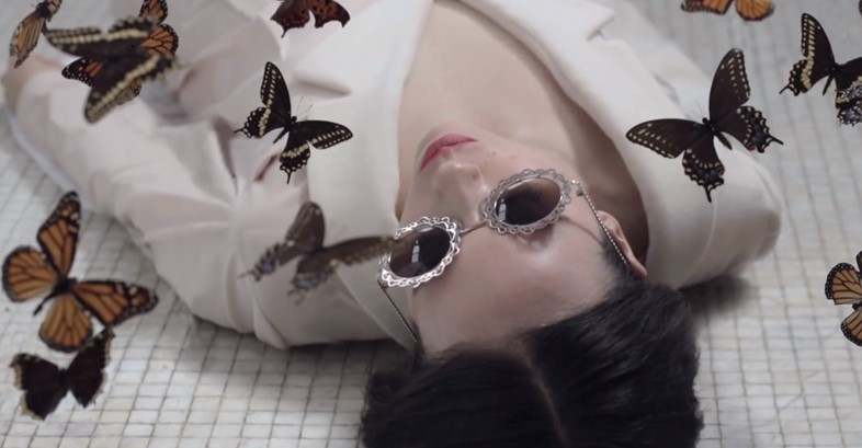 Allie X with Butterflies in Catch video