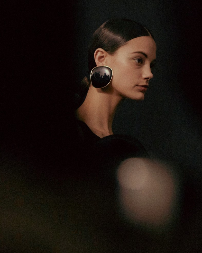 Armani Privé Haute Couture SS15 Reflection Large Earrings