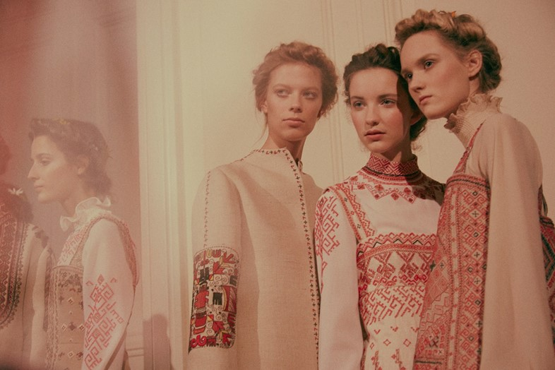 Backstage at Valentino Haute Couture SS15