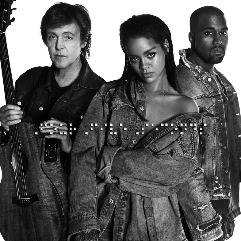 Rihanna FourFiveSeconds artwork