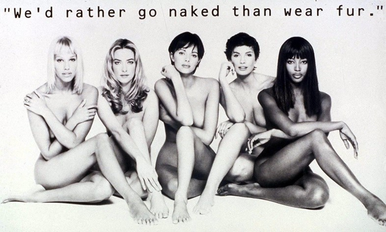 Peta anti–fur campaign, 1994, Dazed Digital