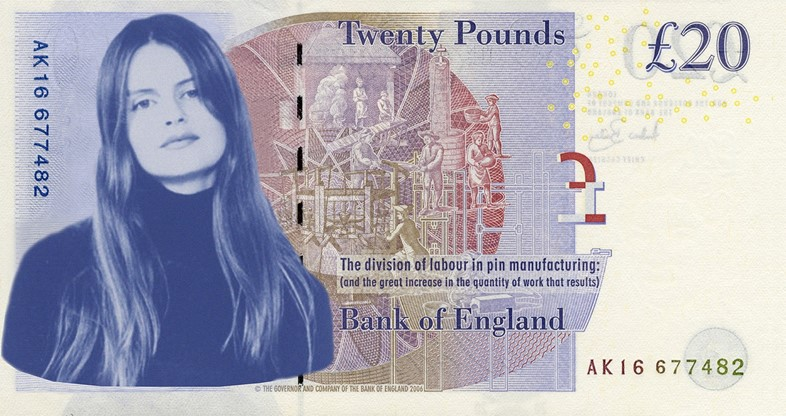 Corinne Day twenty pound note