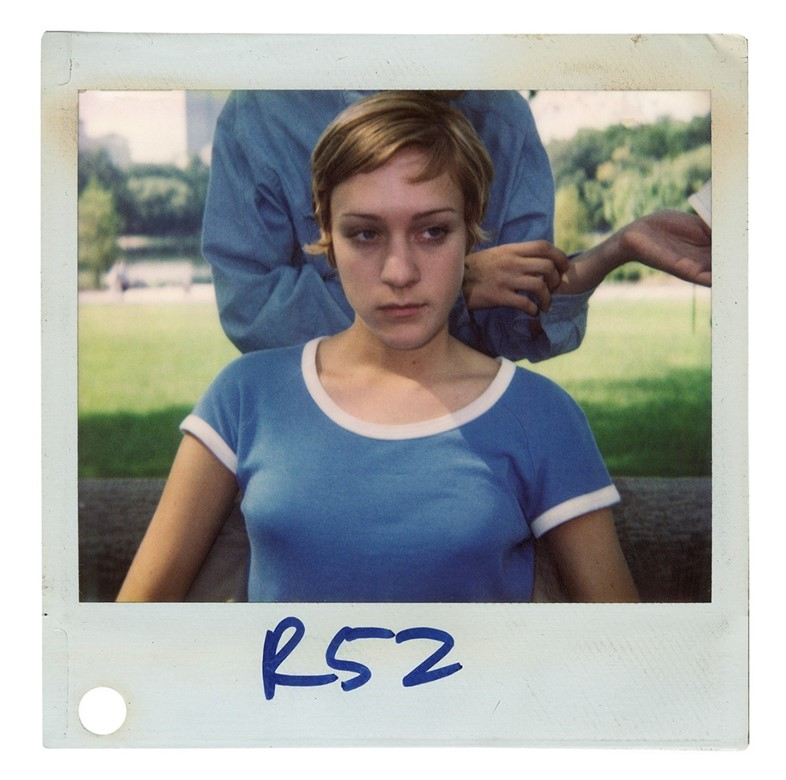 Chloe Sevigny on set for Kids polaroid