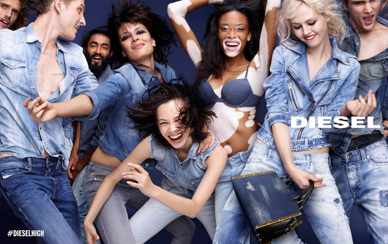Winnie Harlow for Diesel SS15 campaign